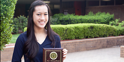 Sophomore first to win prestigious award