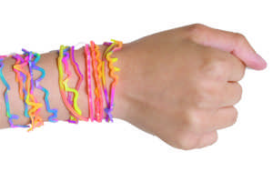 Silly band arm