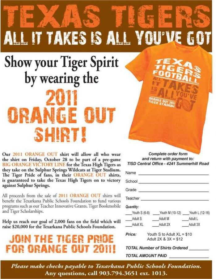 Orange Out shirts on sale now