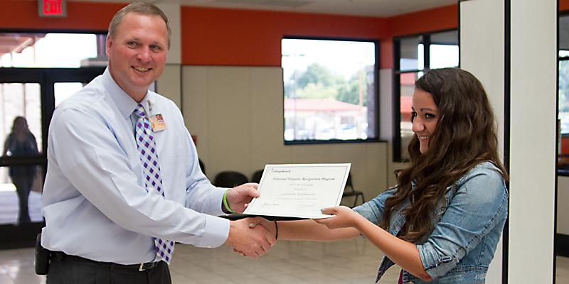 Senior recognized as Hispanic scholar