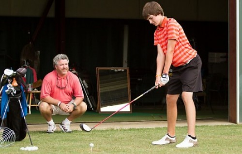 In the swing of things: Golfer looks to father for guidance