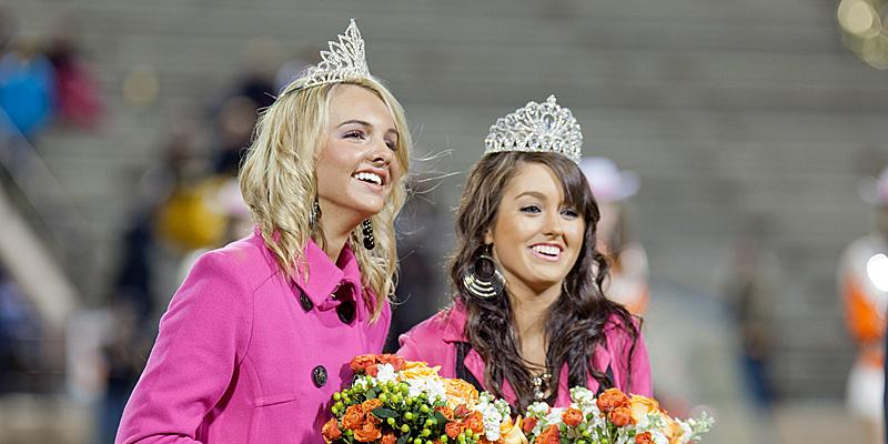 Chilly weather, nerves and two homecoming queens