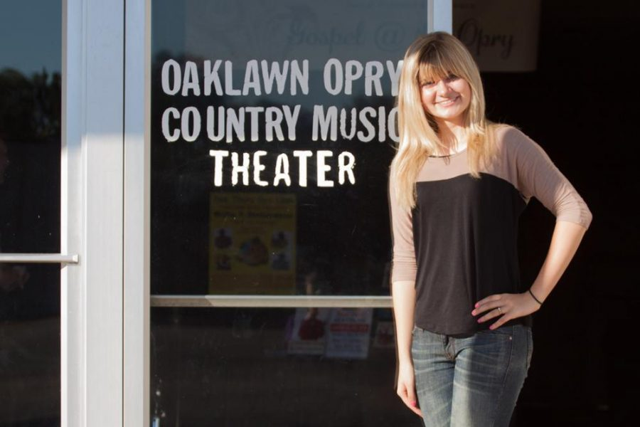 Junior Kellie Taylor performs at honky tonk music festival