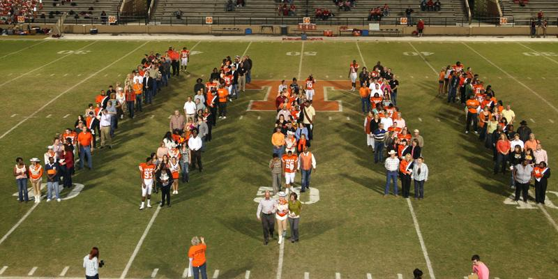 Seniors honored during final home football game