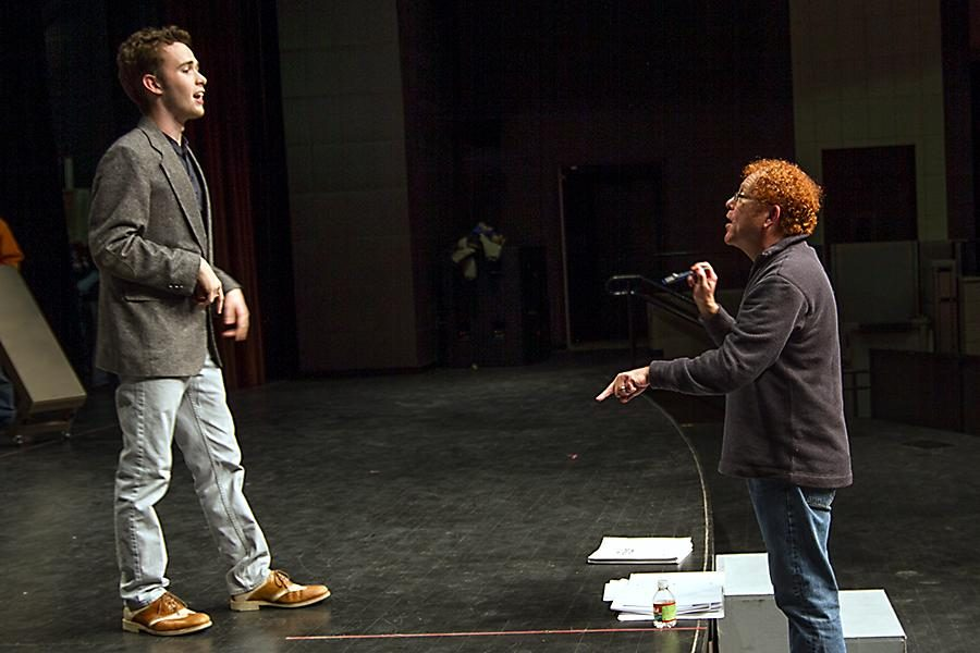 Texarkana College theater director works with senior Taylor Coleman, who plays the lead in this week's opening of