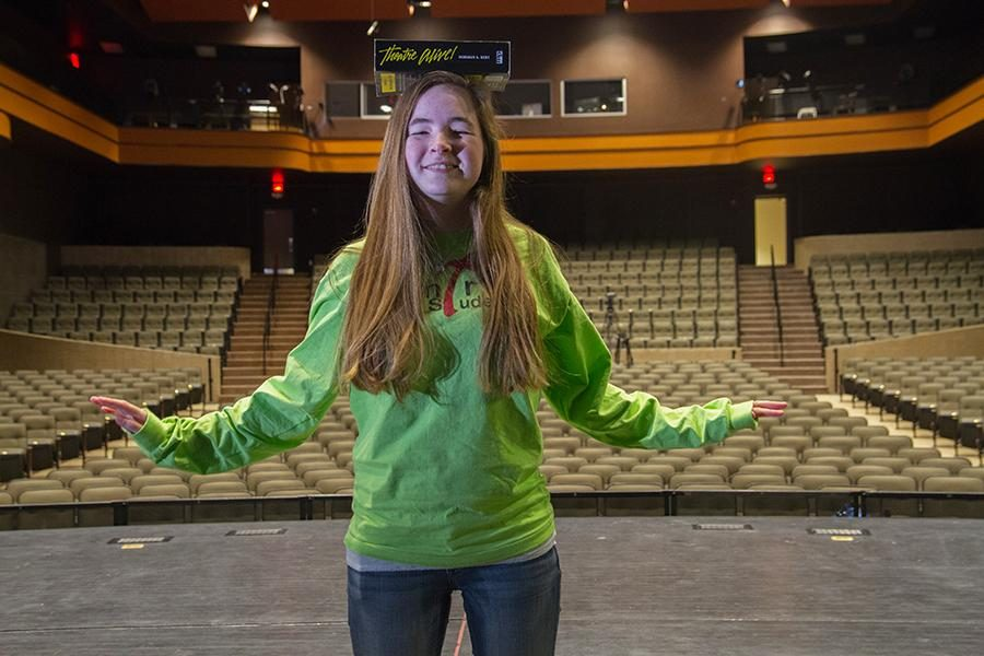 Sophomore Emily McDonald balances theater life with school life.