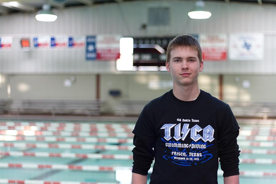 Sophomore Dylan Gray looks forward to returning to the pool after recovering from a collapsed lung.