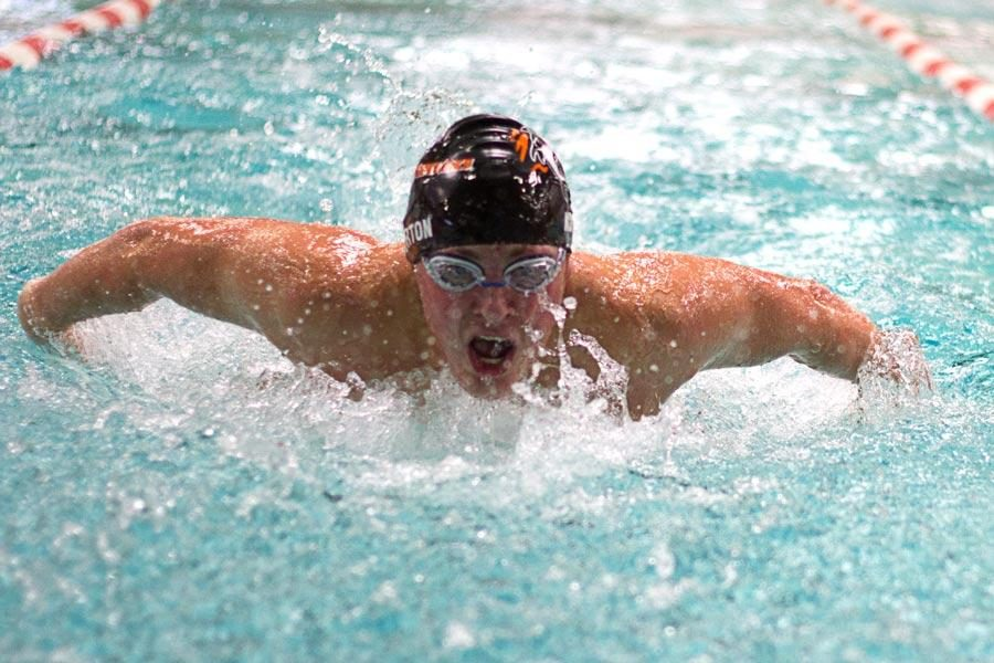 Norton competes in the Fly during the Oct. 18 swim meet at Texarkana College's Pinkerton Center