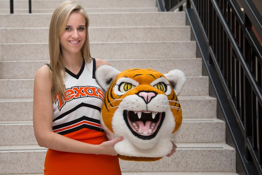 Senior mascot Chandler Thomas poses with mascot costume showing off her double life  sc 1 st  Tiger Times & Whou0027s inside u2013 Tiger Times