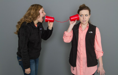 Senior Morgan Williams and Laura Rochelle take technology into their own hands.