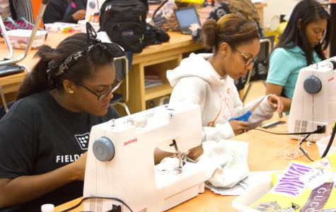 Students in fashion design class do their part for overseas charity by making dresses for little girls in need