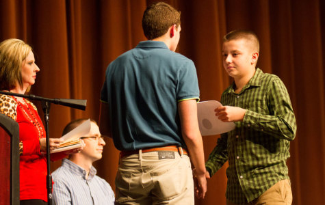 Students inducted into math honor society