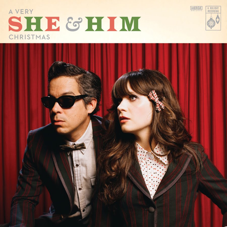 "Official album cover from ""She and Him"" Christmas"