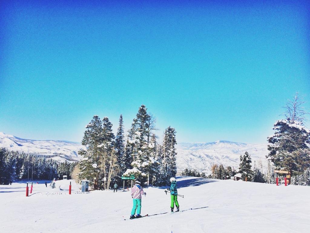 Photo taken during Jillian Cheney's ski trip by a family member.