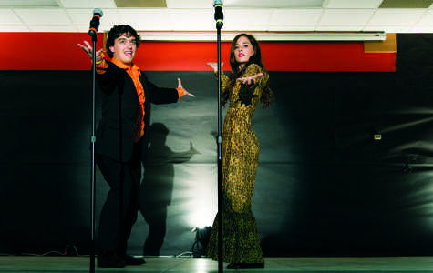 Clayton and Mary-Stewart Shores perform a Donny and Marie skit from last year's Dinner Theater show.