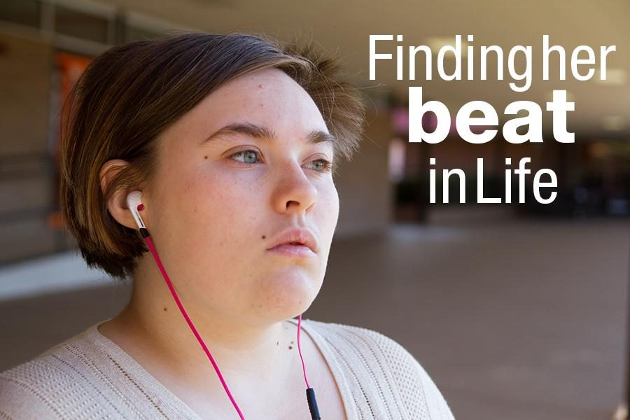 Senior Amanda Hackleman listens to music to relax against the everyday chaos that faces a teen.