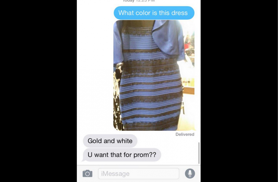 Senior Madeline Hunleys conversation with her mother over the infamous dress debate. Screenshot from Twitter @madhunley