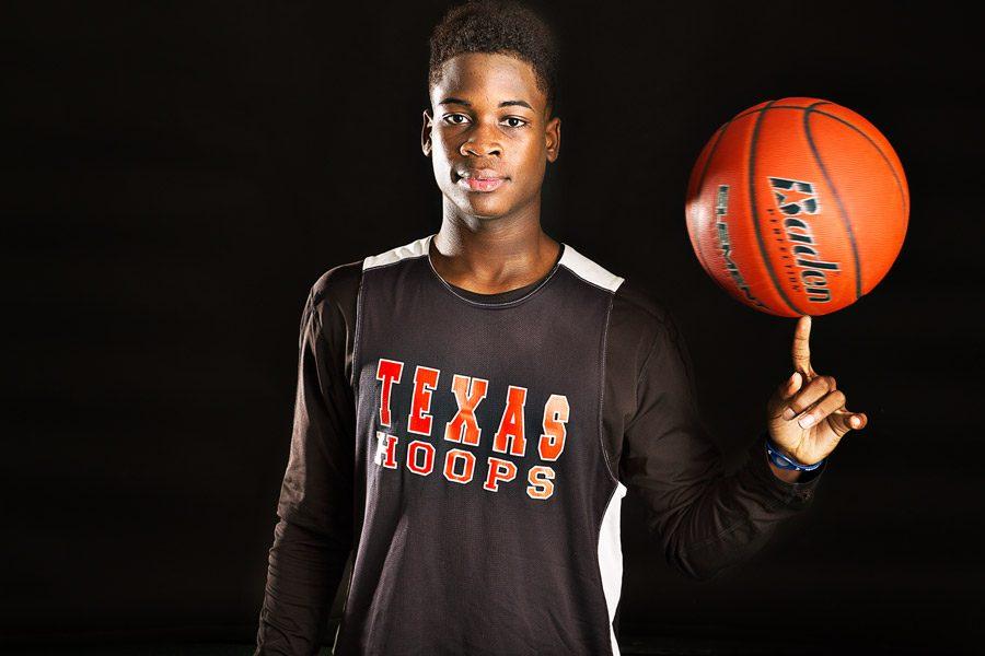 Junior Jaylen Rhone pictured in his Texas High jersey