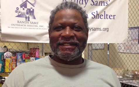 Willie Johnson pictured at Randy Sams' Outreach Shelter. Photo by Naveen Malik