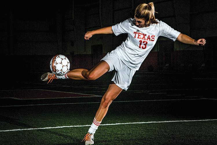 Senior Hannah Brantley passes the ball.