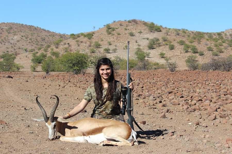 Senior Naveen Malik hunts big game in Africa.