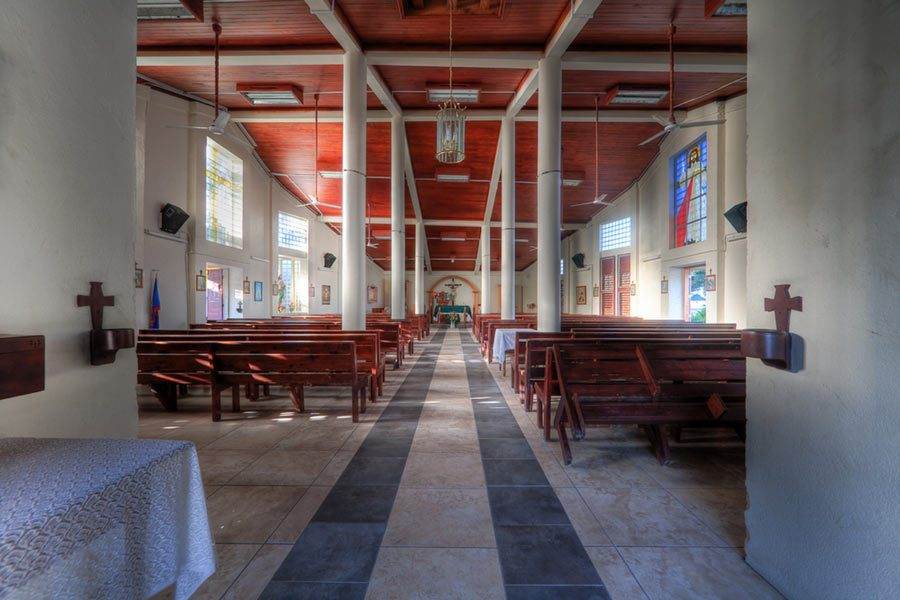 The inside of a church Ali Richter has visited during her travels. Submitted photo.
