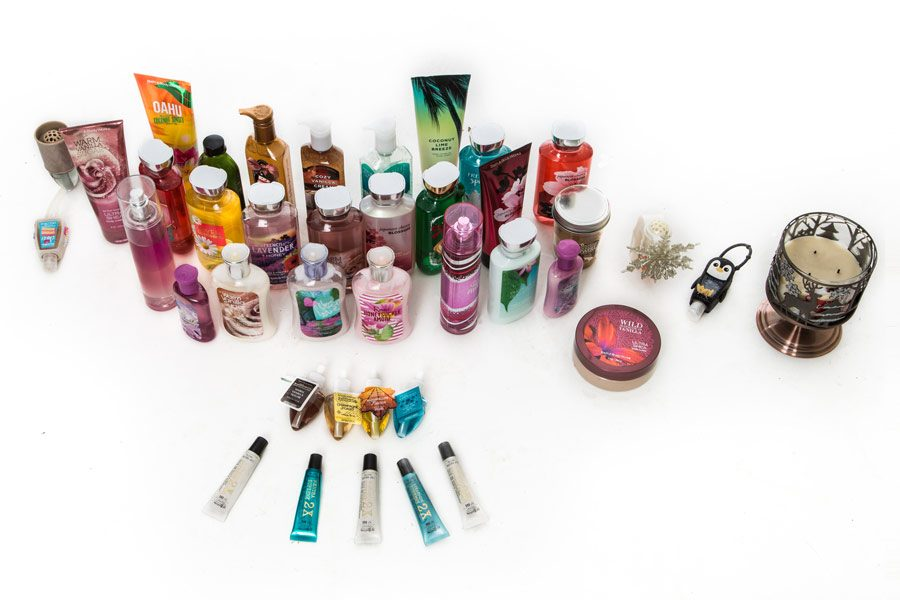 Alyssa Gilbert's collection of Bath and Body Works products