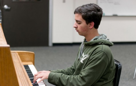 Freshman Craig Crawford plays the piano. Crawford has been practicing music since he was 7 years old.