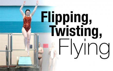 Lauren Potter prepares to throw a dive at the Regional competition.
