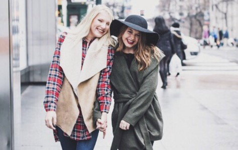 Katie Biggar walks through New York with her friend. Submitted photo.