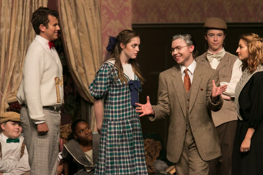 Theater students act in Saturday nights performance.