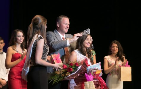 Principal Brad Bailey crowns Miss THS winner Madison Prince. The annual pageant was held on November 12 in the Preforming Arts Center.
