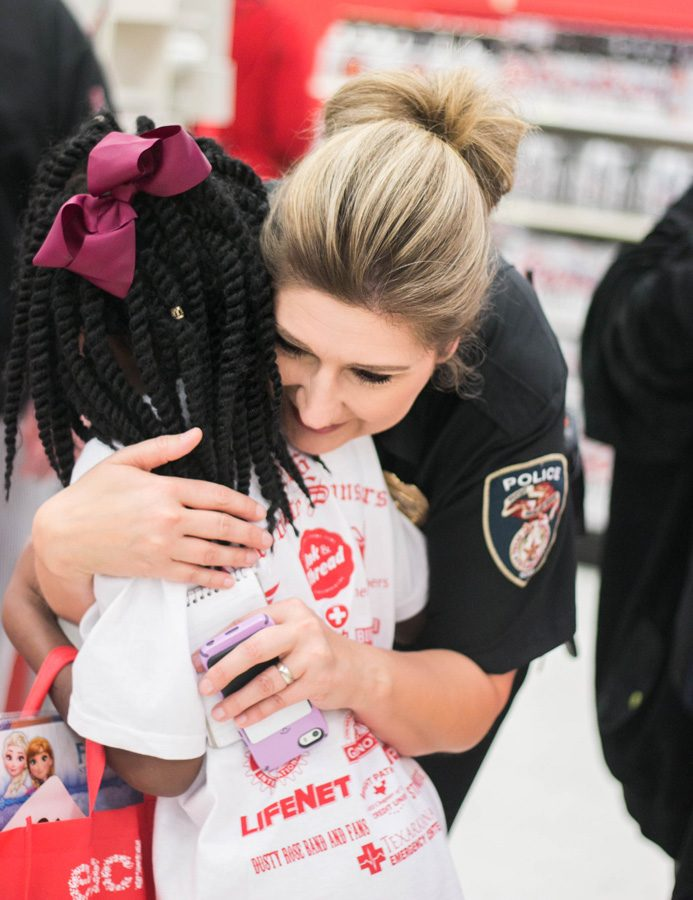 Local first responders take a break from daily activities to spread holiday cheer. The 25th annual Shop with a Cop was held on December 6, 2016.