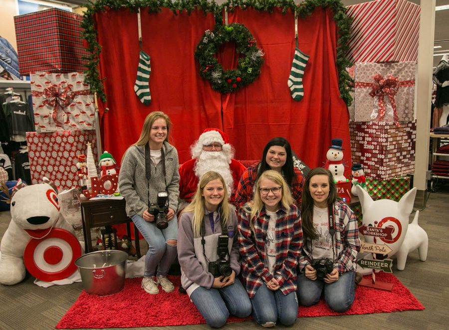 Senior photographers for Texas High School gather to take a picture with Santa at the end of Shop with a Cop.  The 25th annual Shop with a Cop was held on December 6, 2016.