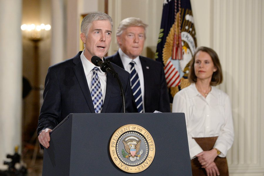 Supreme+Court+nominee+Judge+Neil+M.+Gorsuch+speaks+in+the+East+Room+of+the+of+White+House+in+Washington%2C+D.C.%2C+on+Tuesday%2C+Jan.+31%2C+2017.+Photo+by+Olivier+Douliery