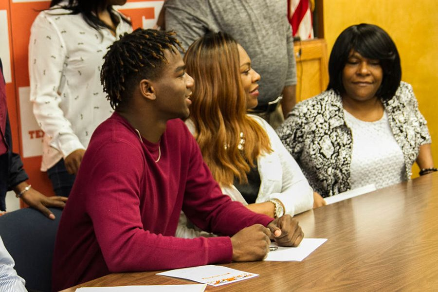 Senior Devuntay Walker commits to play for the Mustangs at Midwestern State University.