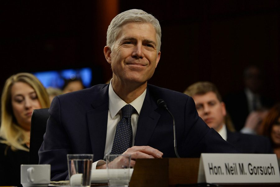 Judge+Neil+Gorsuch+goes+through+his+confirmation+hearing+by+the+Senate+Judiciary+Committee+to+see+if+he+will+be+the+next+U.S.+Supreme+Court+Justice+on+March+22%2C+2017+in+Washington%2C+D.C.+Photo+by+Christy+Bowe%2FGlobe+Photos