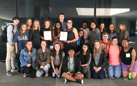 A group of publications students traveled to Austin to participate in the ILPC convention. The staffs took home multiple awards, including Gold Stars in newspaper and yearbook.  Submitted photo.