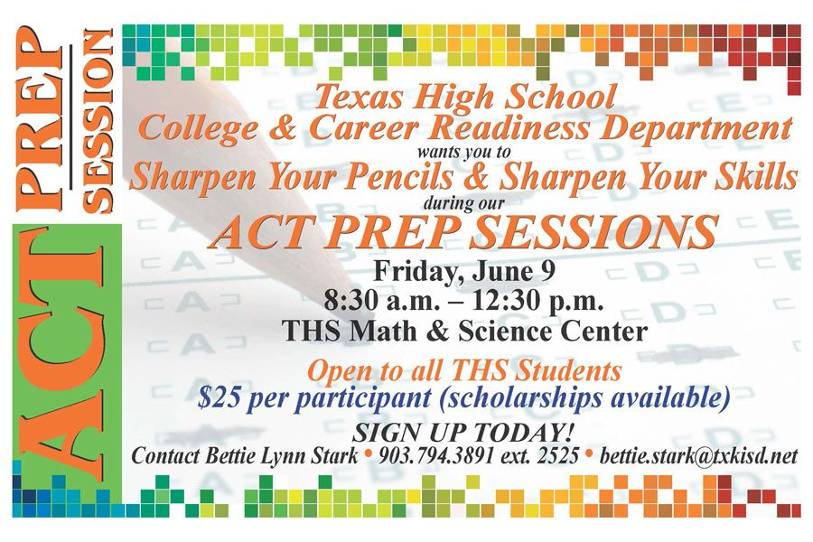 THS hosts an ACT prep session to help students boost their ACT/SAT scores.