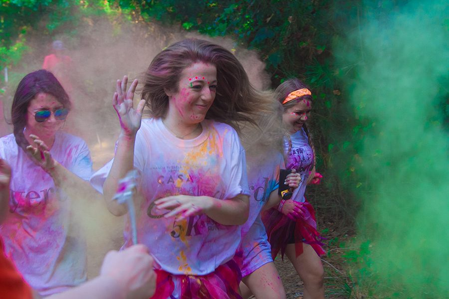 Senior Anna Kate Jordan participates in the CASA Color Run every year, and hopes to make her mother proud. The Color Run benefits neglected and abused children, and helps make an impact in the Texarkana community.