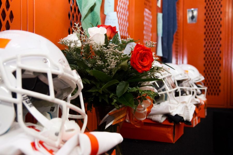 These+flowers+are+located+under+former+Leonard+Park%27s+locker.
