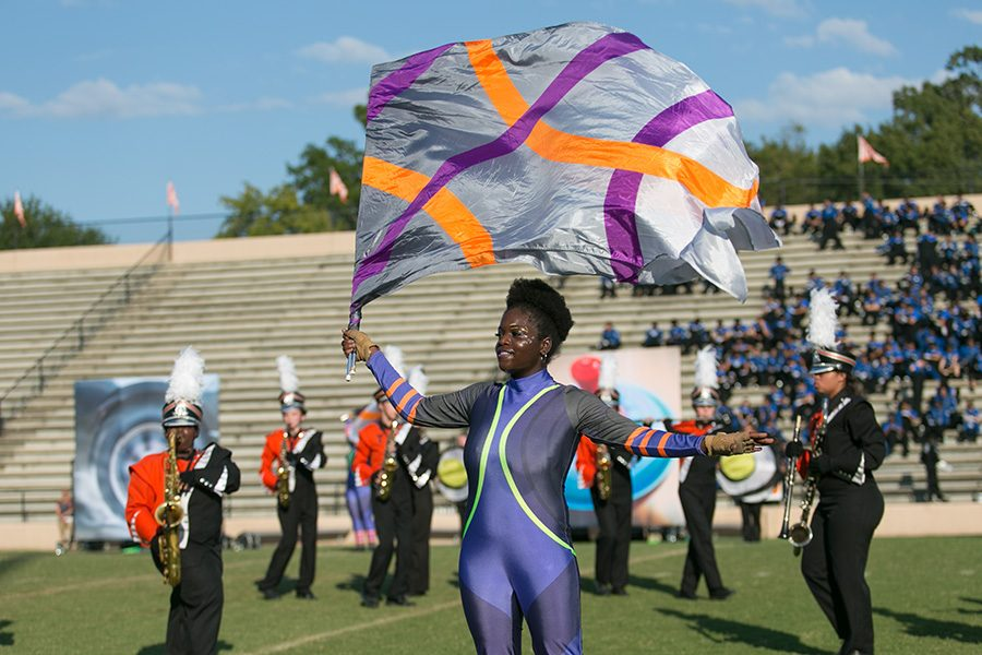 The Tiger Marching Band performs their award winning show