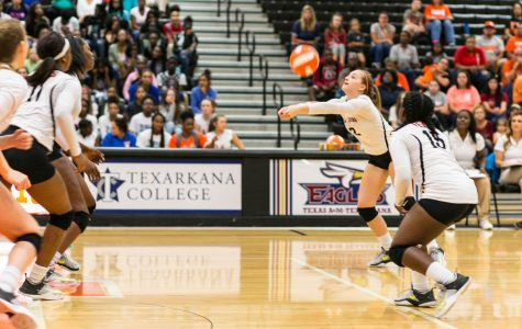 Texas High vs Mashall volleyball 2017