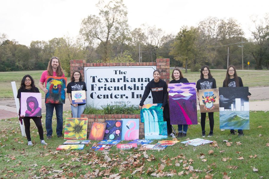 Art Club delivers paintings to the Friendship Center in hopes of creating a better atmosphere. Art Club is currently selling candy to raise money to participate in a competition.