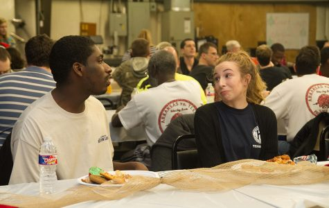 Sophomore Savannah Downs volunteers with Key Club at last year's Kiwanis Christmas party for Action club and Opportunities. This year's party will be held on Dec. 9.