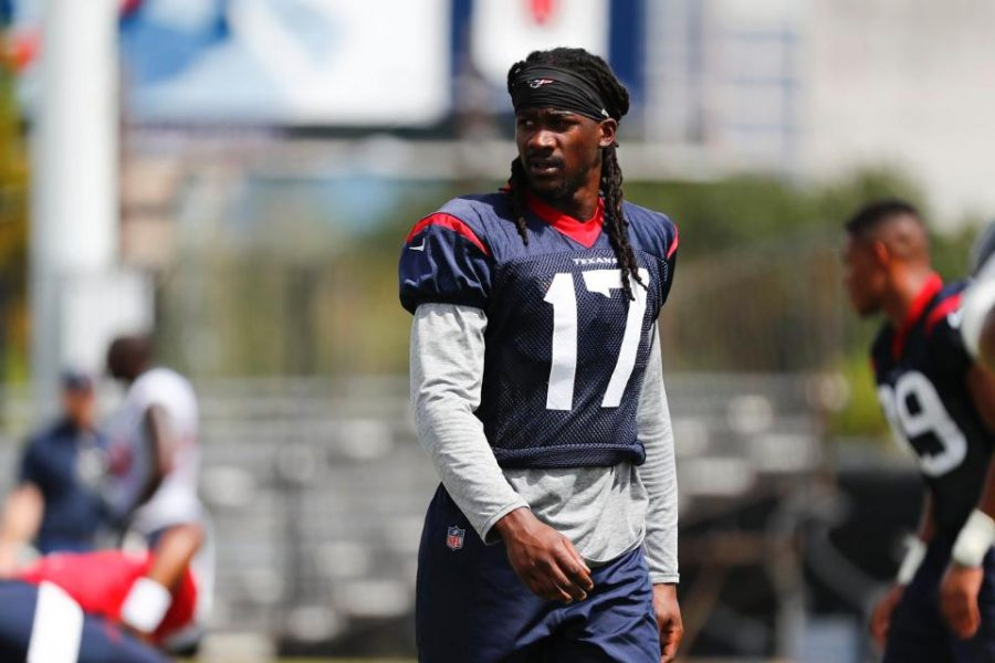 Texas High graduate Cobi Hamilton photographed during practice with the Houston Texans. Hamilton was released from the Pittsburg Stealers earlier this year.