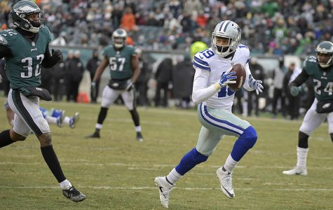 Dallas Cowboys wide receiver Brice Butler (19) catches a 20-yard pass during the fourth quarter and scores the only points in the game against the Philadelphia Eagles at Lincoln Financial Field in Philadelphia on Sunday, Dec. 31, 2017. The Cowboys won, 6-0. (Max Faulkner/Fort Worth Star-Telegram/TNS)