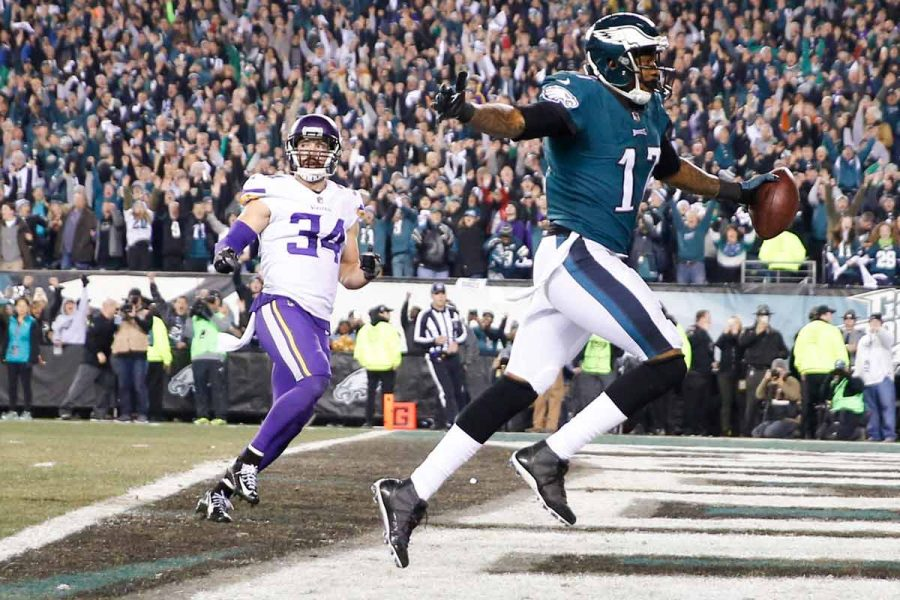 Philadelphia+Eagles+wide+receiver+Alshon+Jeffery+scores+a+second+quarter+touchdown+past+Minnesota+Vikings+strong+safety+Andrew+Sendejo+during+the+NFC+Championship+game+on+Sunday%2C+Jan.+21%2C+2018+at+Lincoln+Financial+Field+in+Philadelphia%2C+Pa.+%28Yong+Kim%2FPhiladelphia+Inquirer%2FTNS%29%0A%0A