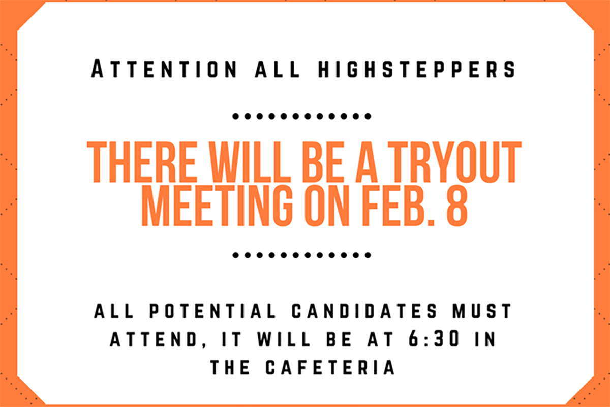 Candidates must be sure to attend the informational meeting on Feb. 8, important notices will be explained, and questions are welcome. Graphic by Langley Leverett