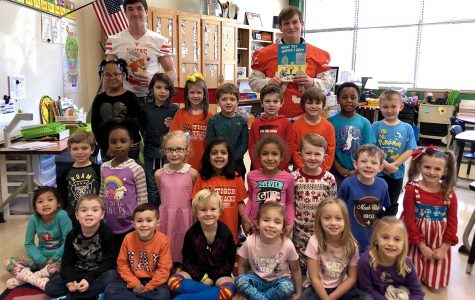 Students involved in leadership through Student Council volunteered to read children's books at local elementary campuses. They read Dr. Seuss in honor of his birthday. Submitted photo